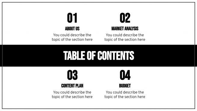 Modelo de apresentação Plano de marketing minimalista