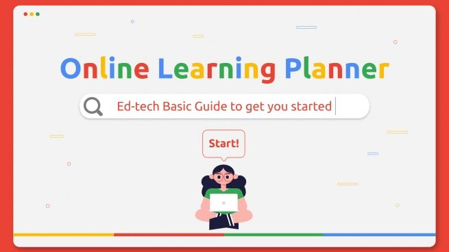 Plantilla de presentación Planificador de clases online