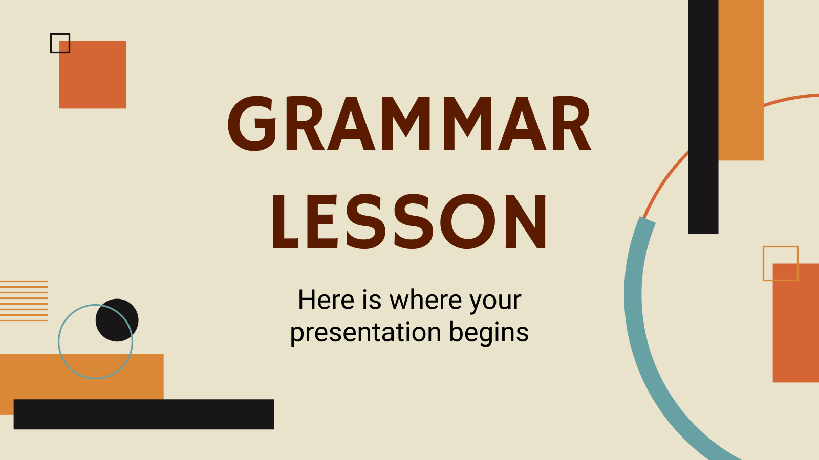 Grammar Lesson presentation template