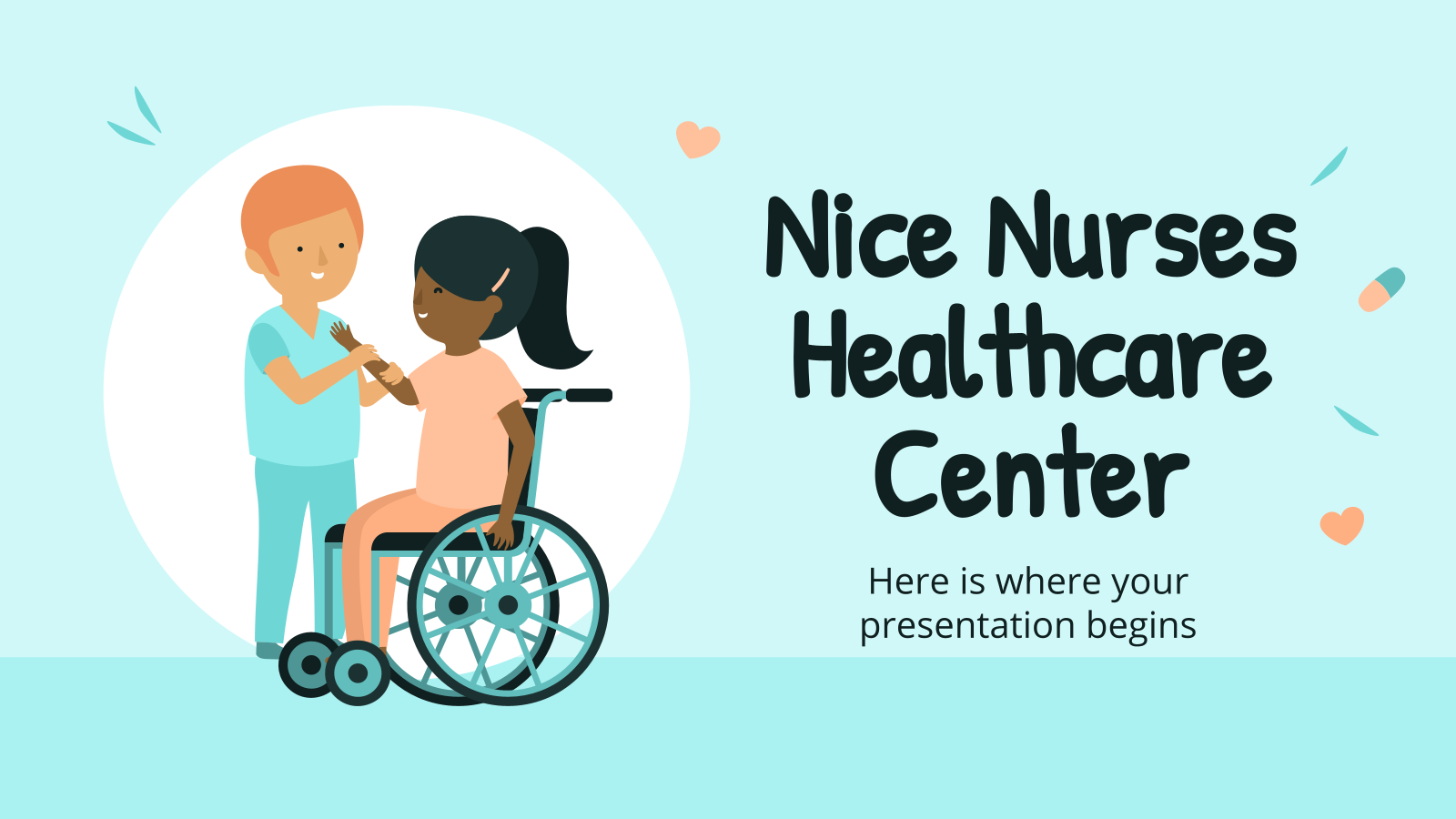 Nice Nurses Healthcare Center presentation template