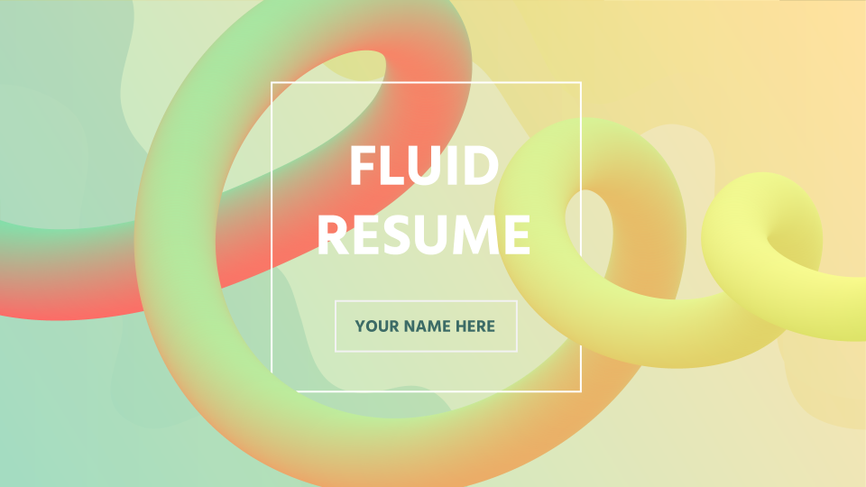 Fluid Resume presentation template