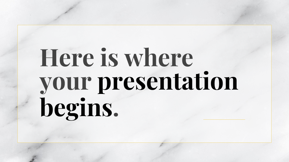 White Elegance presentation template