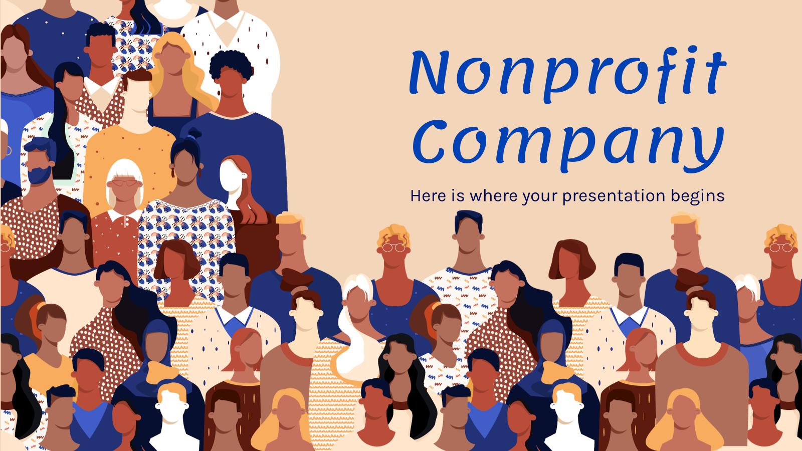 Modelo de apresentação Plano de marketing de ONG