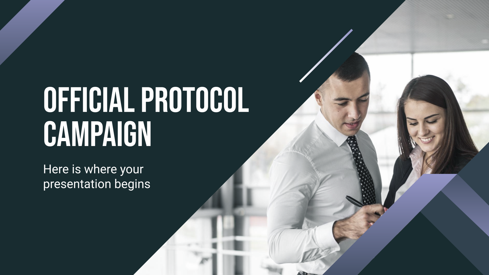 Official Protocol Campaign presentation template