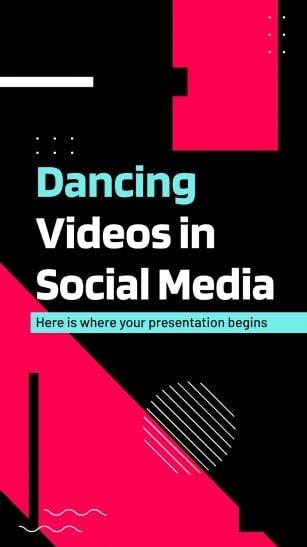 Plantilla de presentación Vídeos de bailes en redes sociales