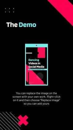 Modelo de apresentação Vídeos de dança em mídias sociais