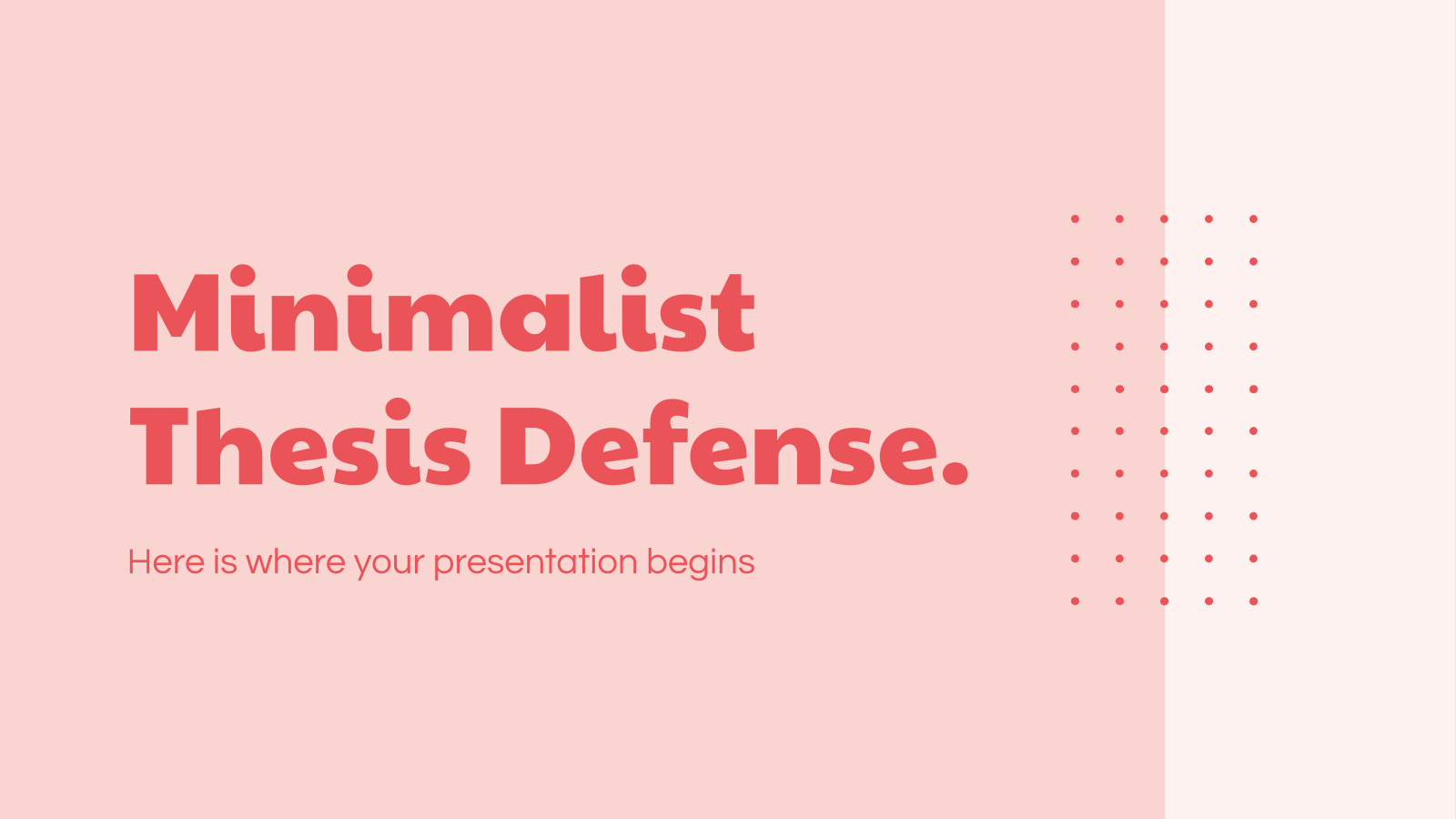 Minimalist Thesis Defense presentation template
