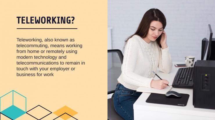 Modelo de apresentação Dicas para o trabalho à distância