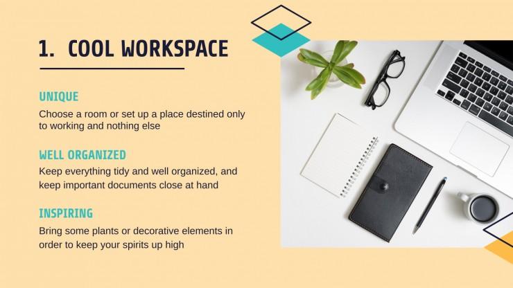 Teleworking Tips presentation template