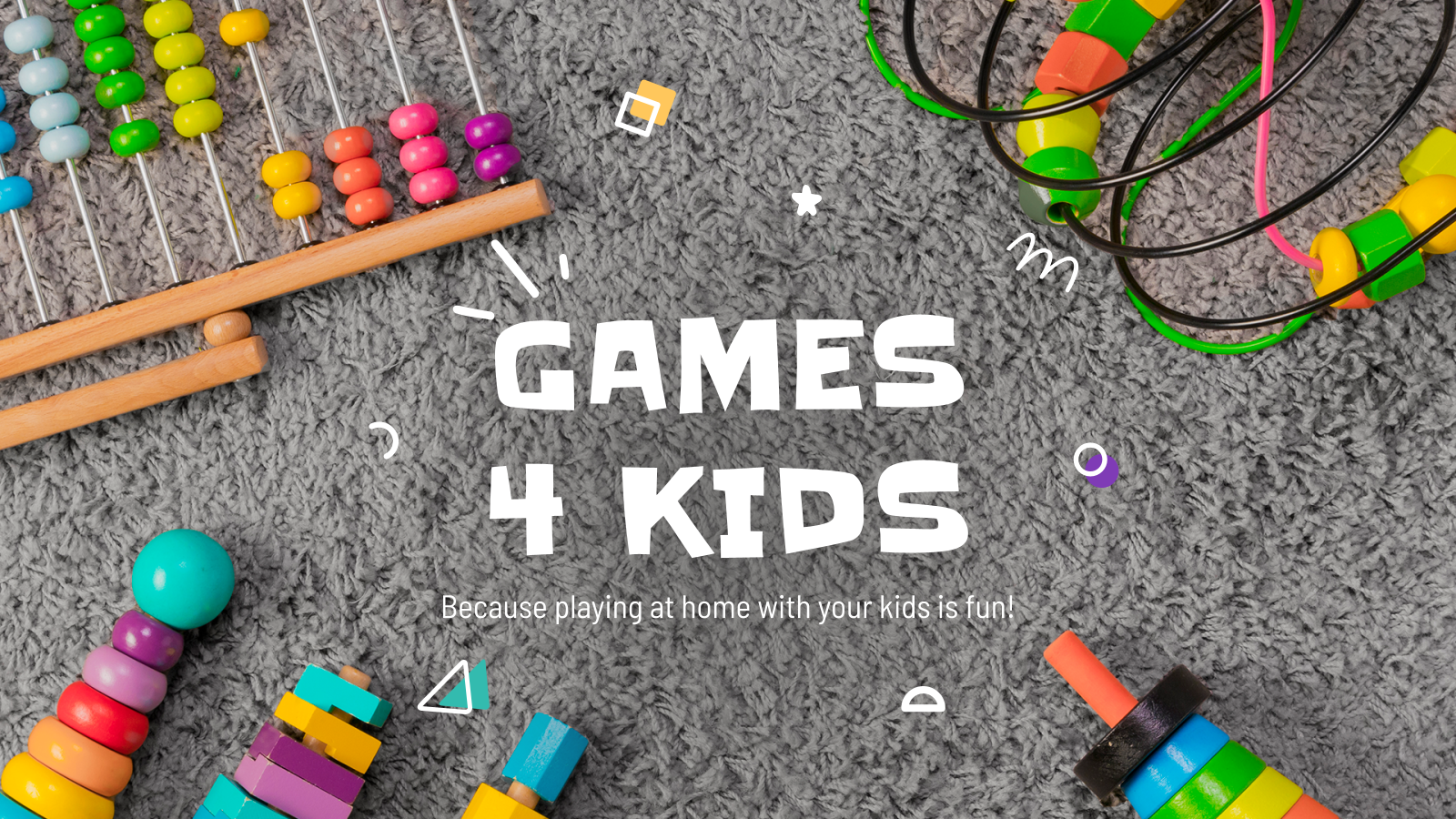 Games for Kids presentation template