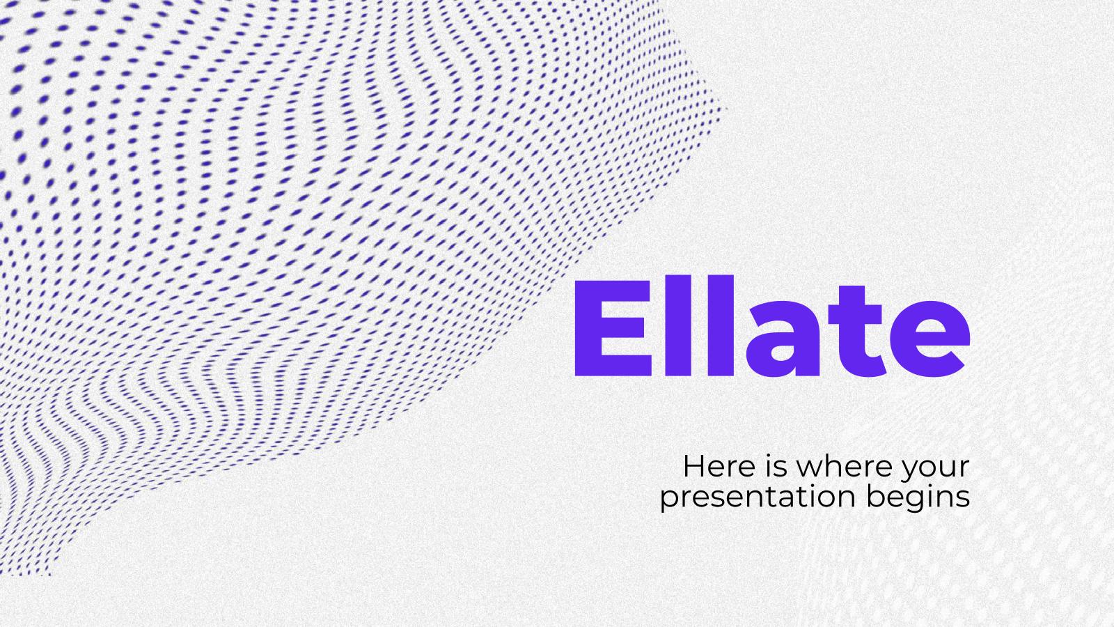 Modelo de apresentação Ellate