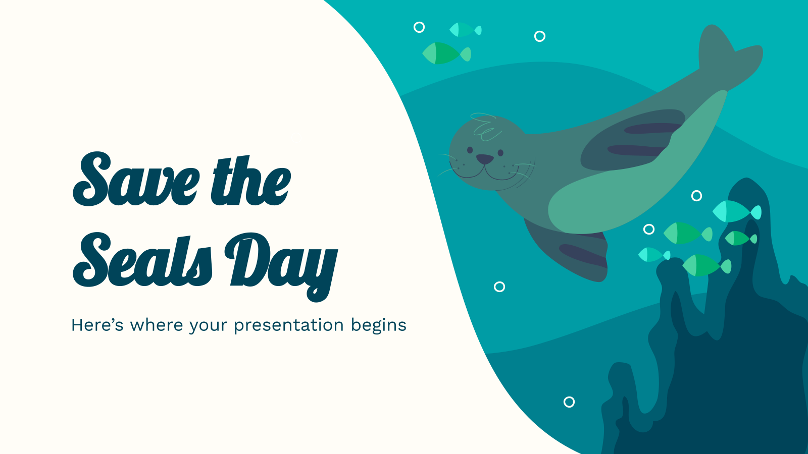 Save the Seals Day presentation template