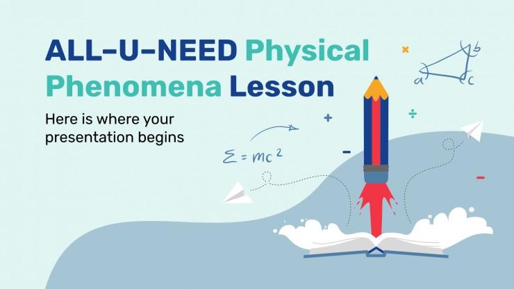 Plantilla de presentación Lección de fenómenos físicos