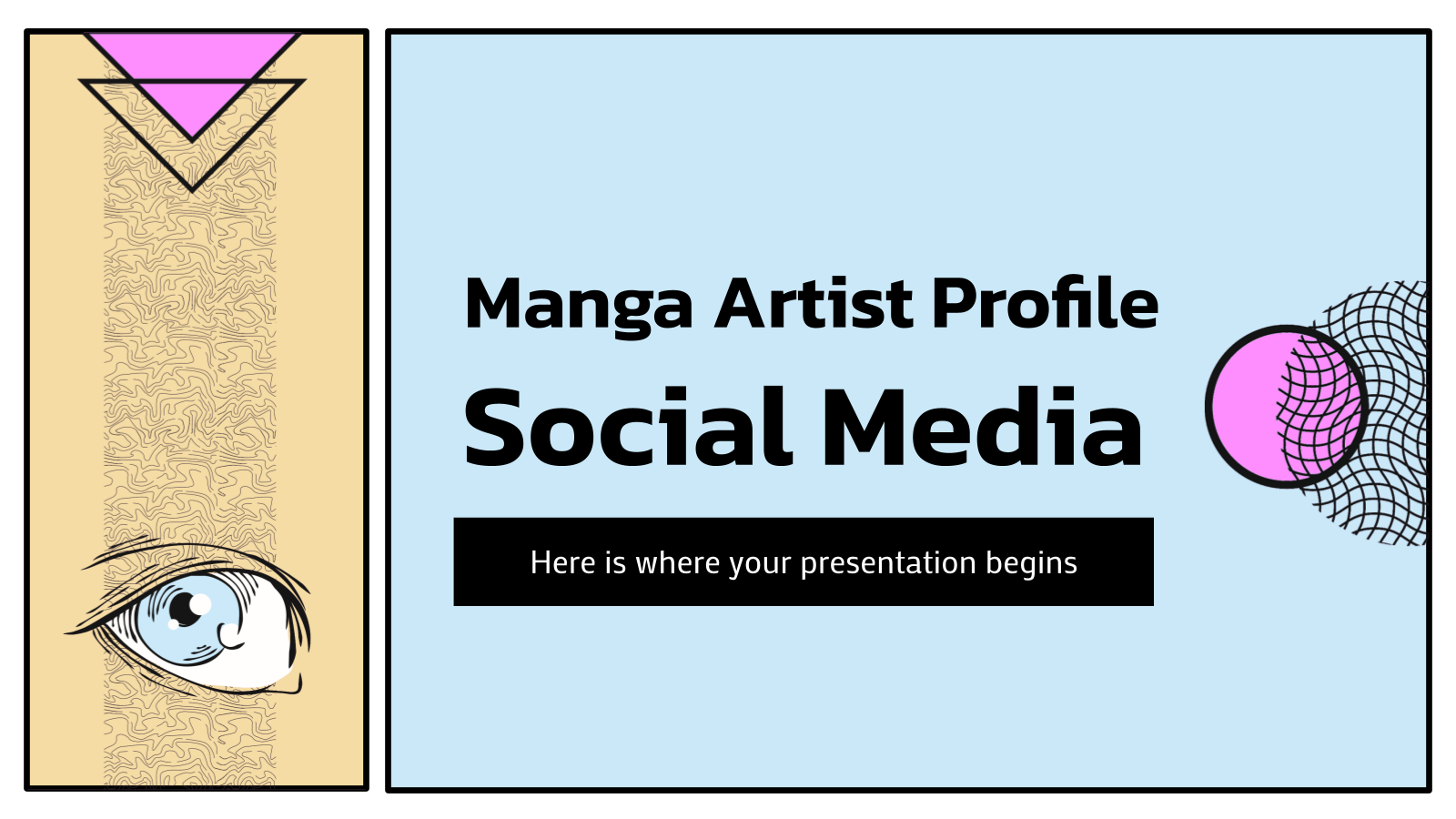 Manga Artist Profile Social Media presentation template