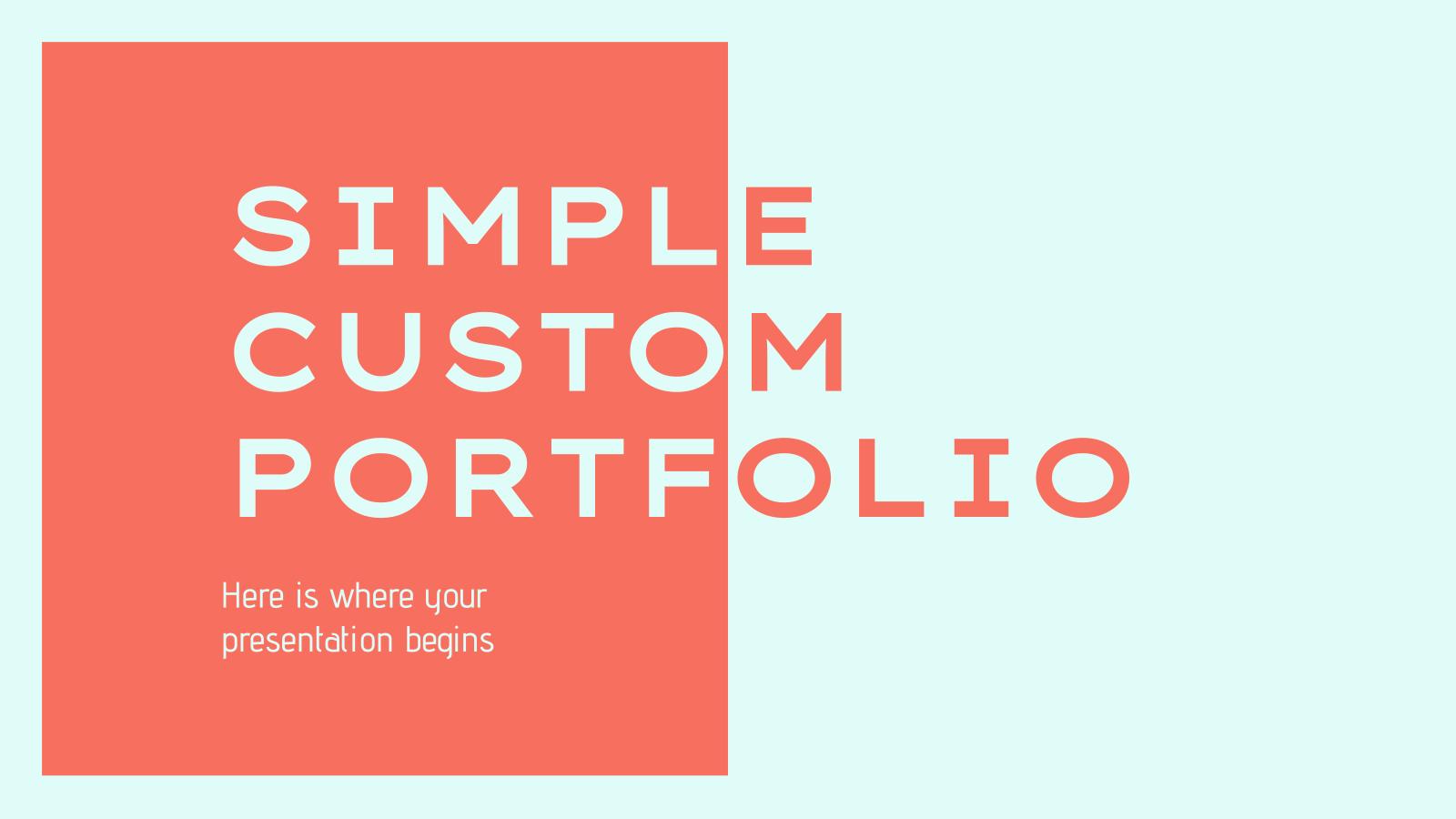 Plantilla de presentación Portafolio simple y personalizado