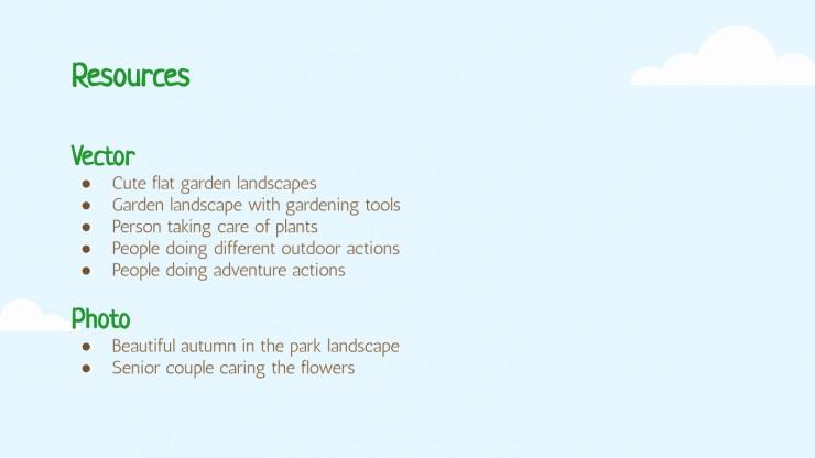 Plantilla de presentación Mes de la jardinería