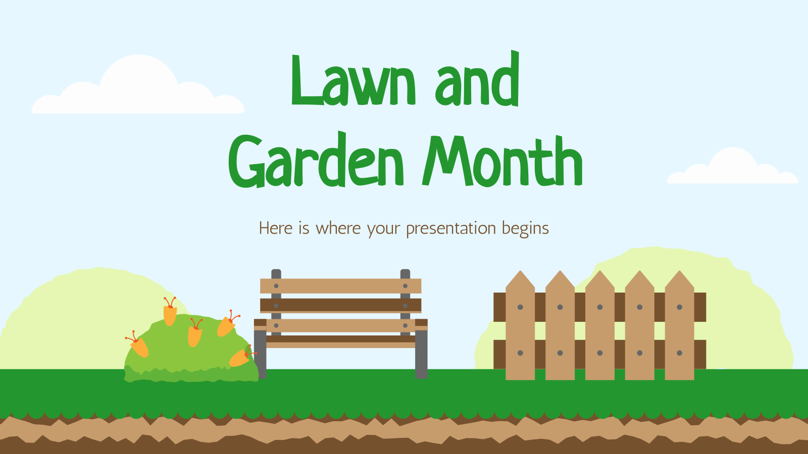 Lawn and Garden Month presentation template