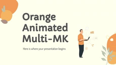 Plantilla de presentación Marketing naranja con animaciones
