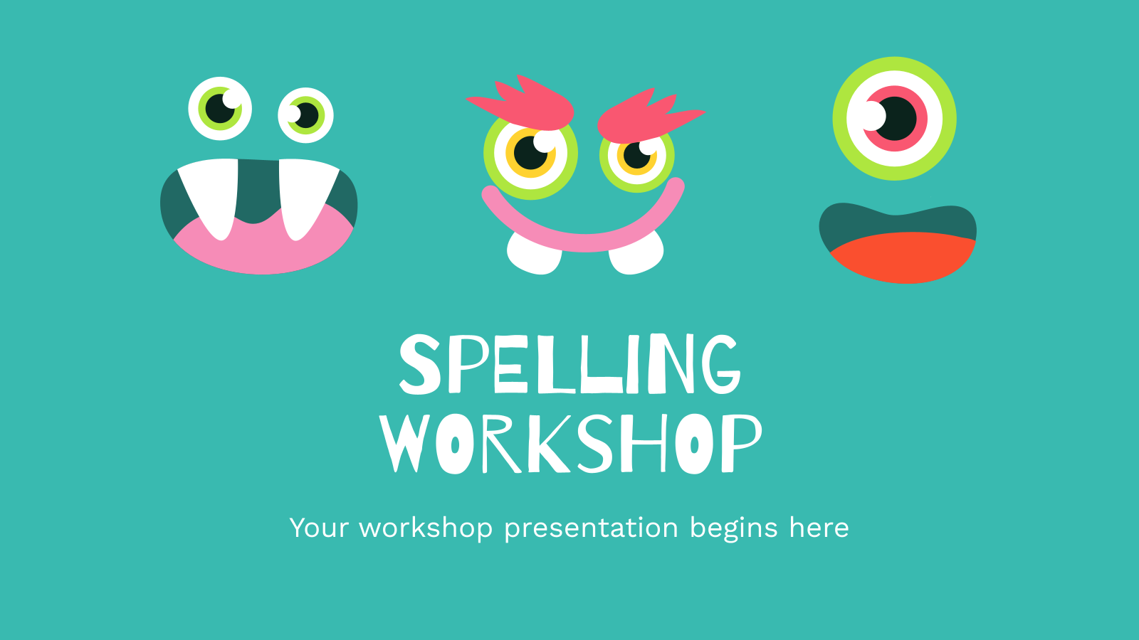 Spelling Workshop presentation template