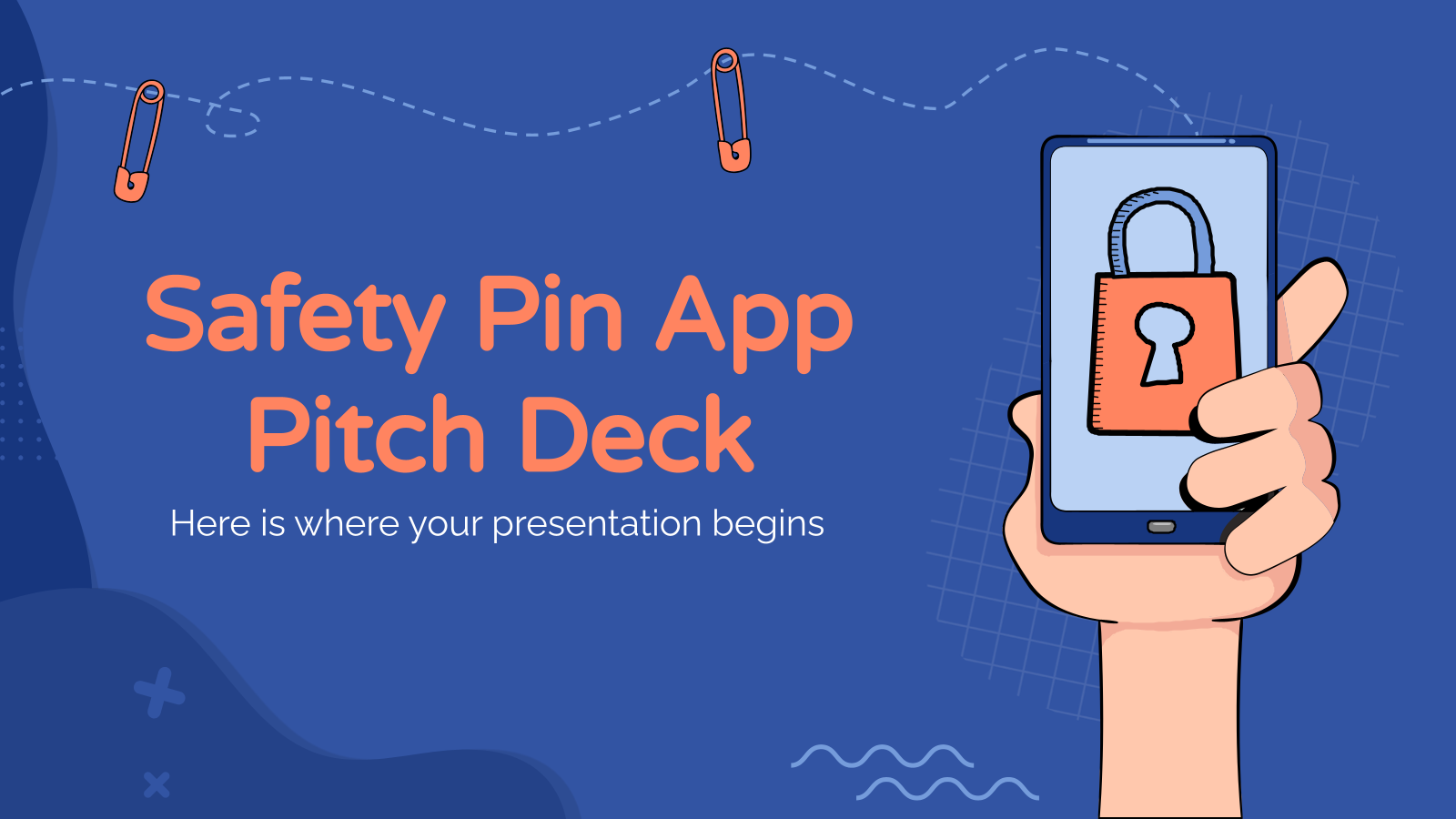 Safety Pin App Pitch Deck presentation template