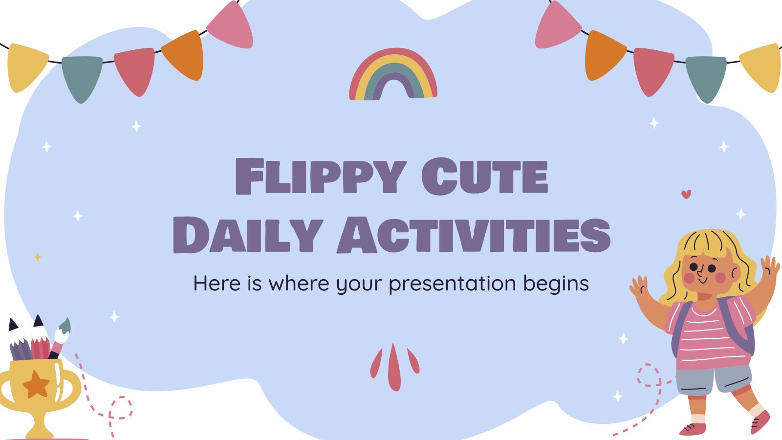 Activités quotidiennes mignon Flippy : Modèles de présentation