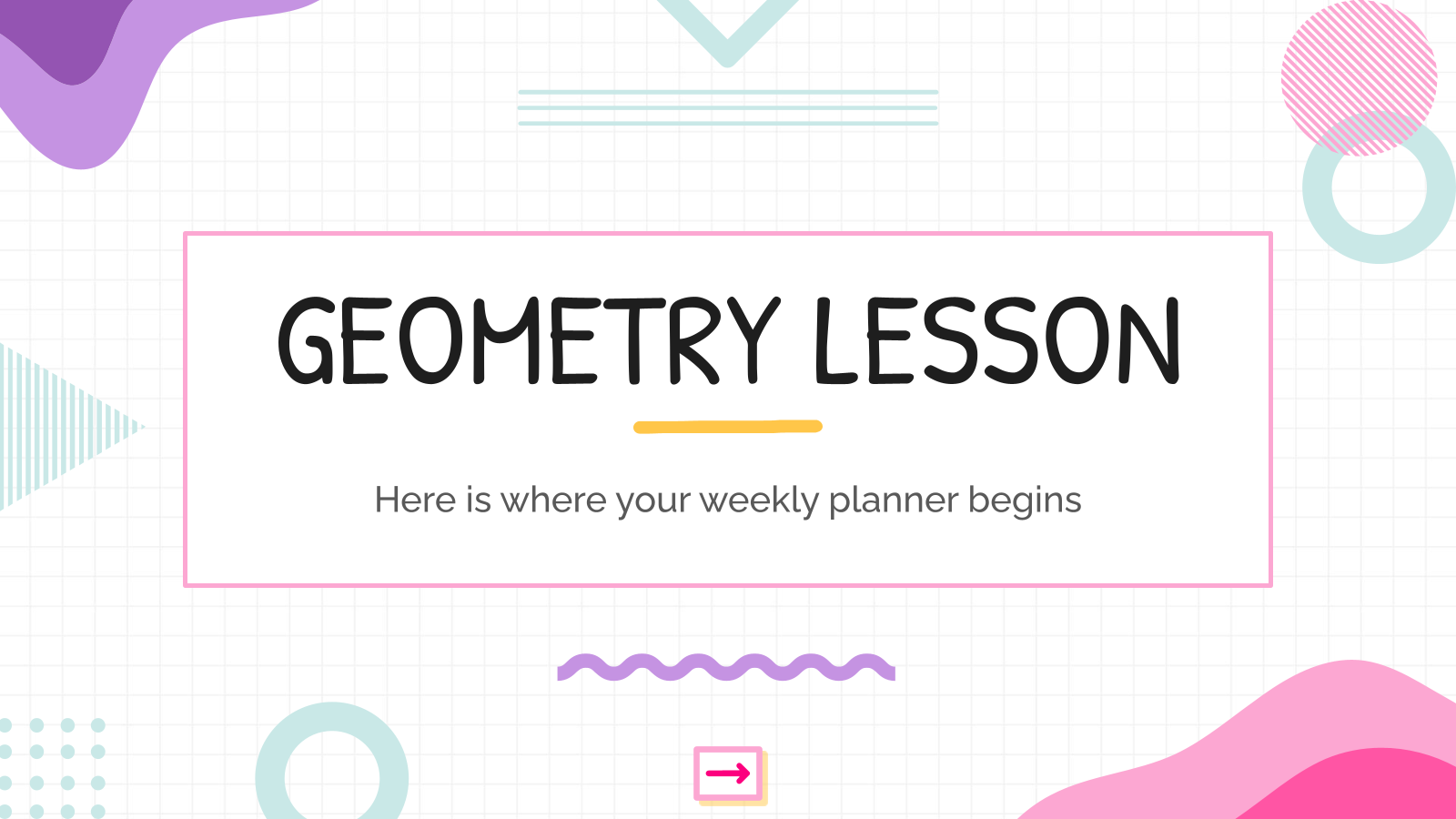 Geometry Lesson presentation template