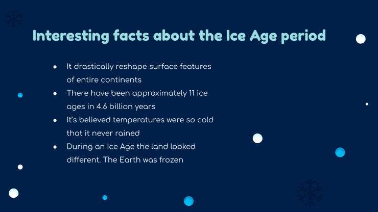 Modelo de apresentação Aula da era glacial para o ensino fundamental
