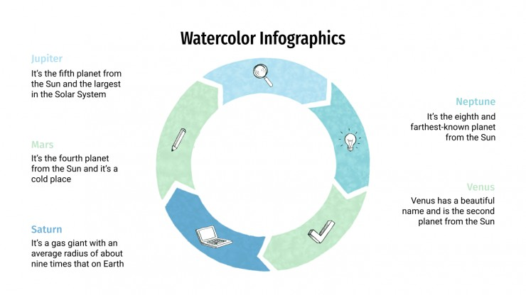 Watercolor Infographics presentation template