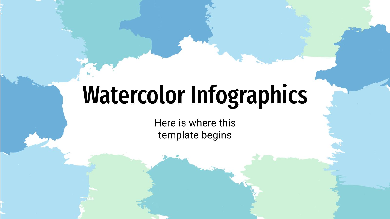 Infographies d'aquarelles : Modèles de présentation