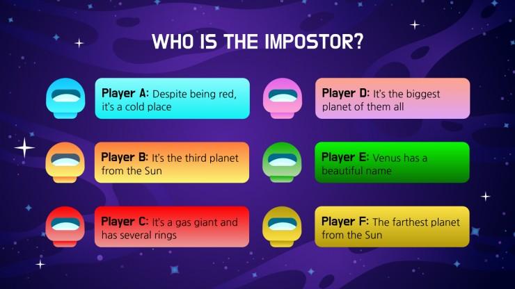 Impostors in the Spaceship presentation template