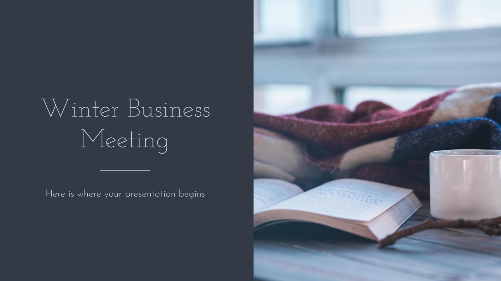 Plantilla de presentación Reunión de negocios de invierno