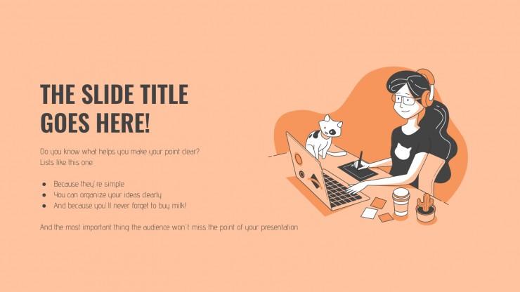 Plantilla de presentación Educación en línea