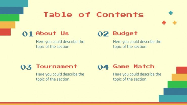 Modelo de apresentação A semana dos jogos!