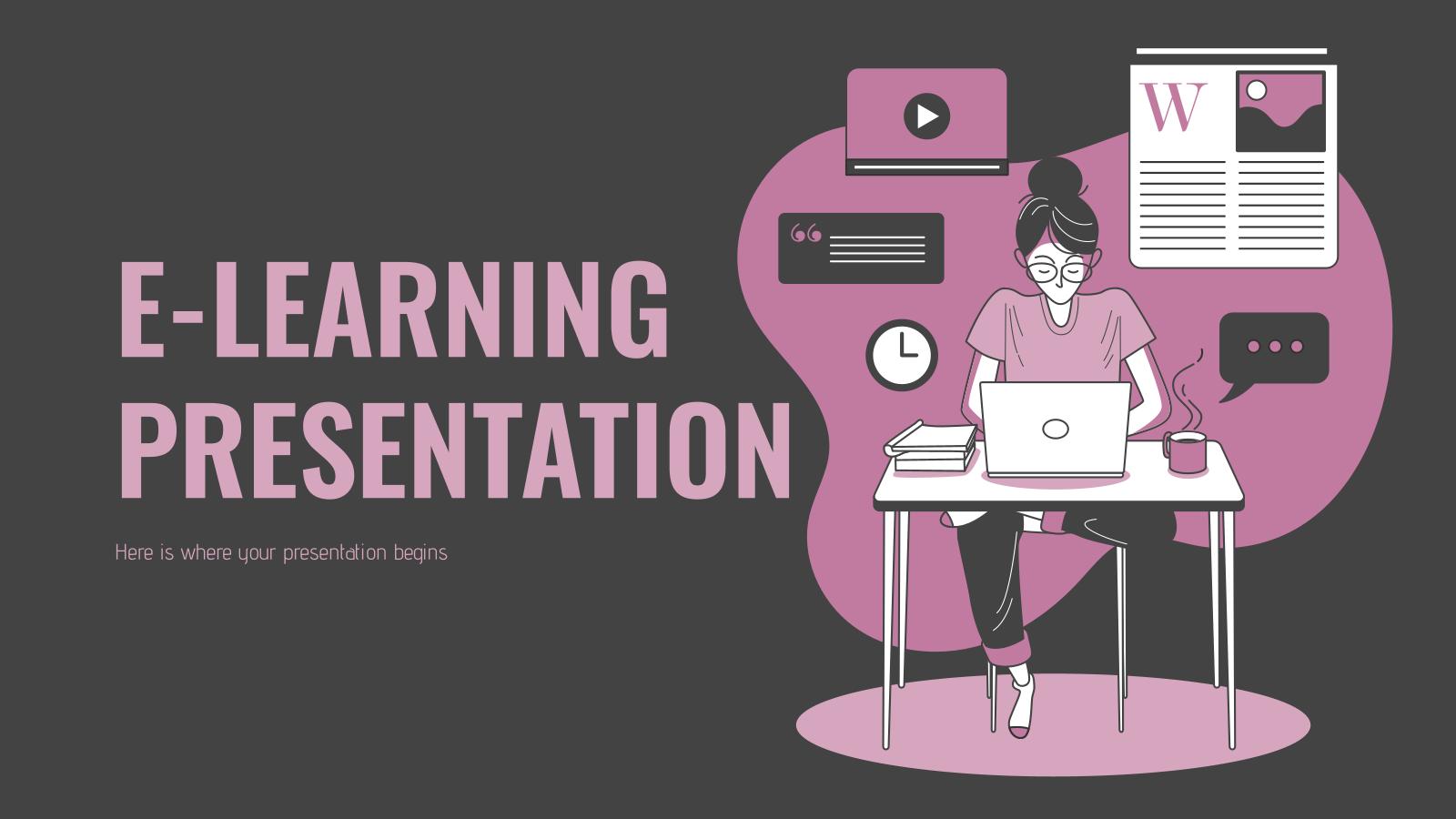 Modelo de apresentação E-Learning