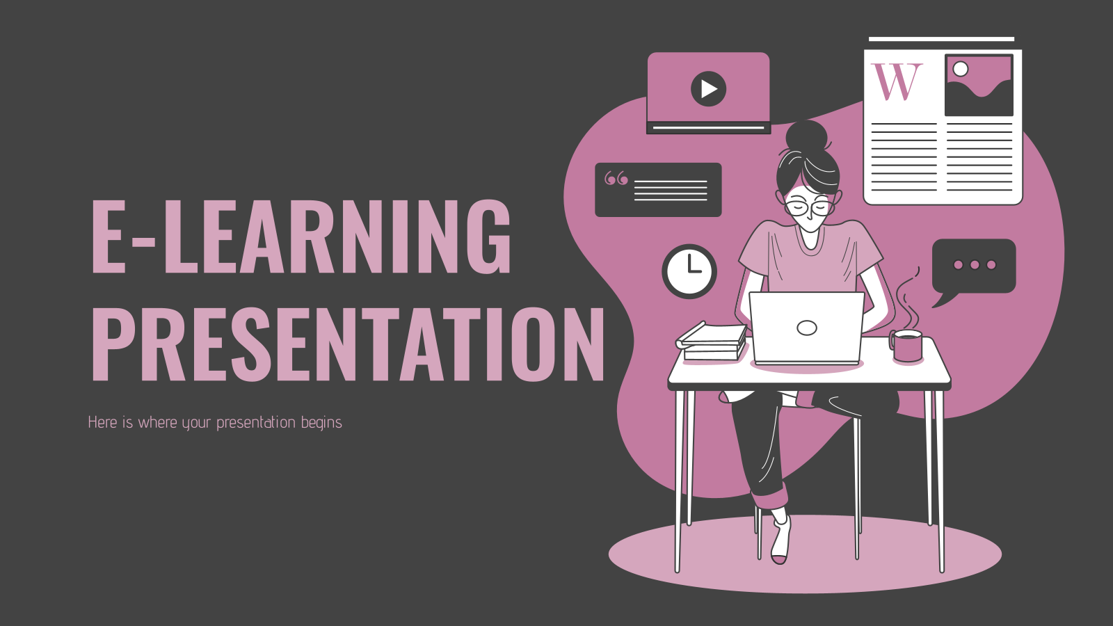 E-Learning presentation template