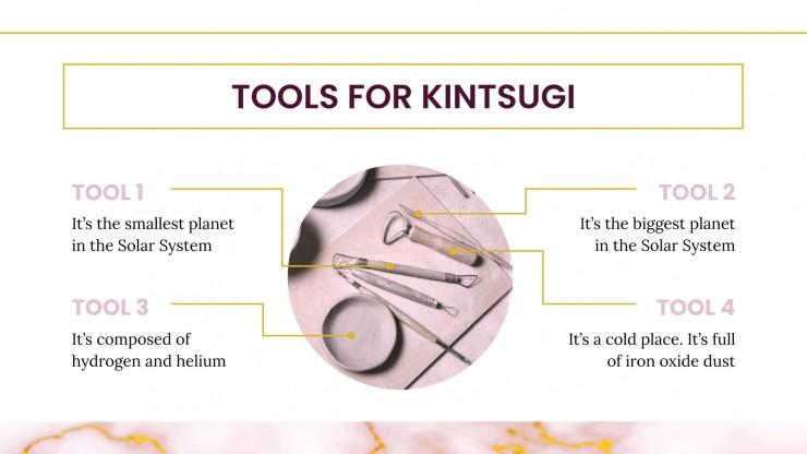 Plantilla de presentación Taller de kintsugi