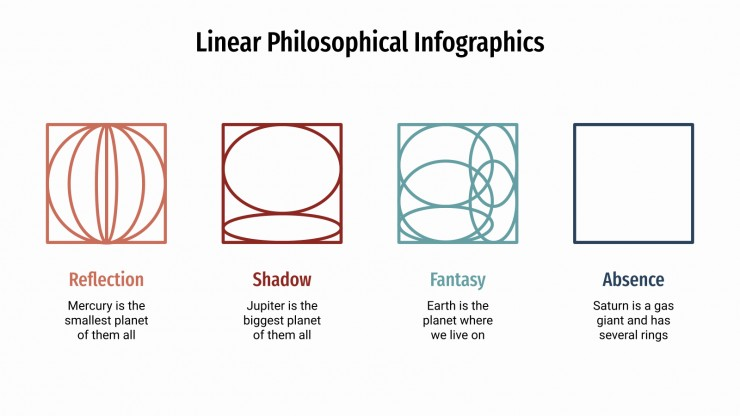 Linear Philosophical Infographics presentation template