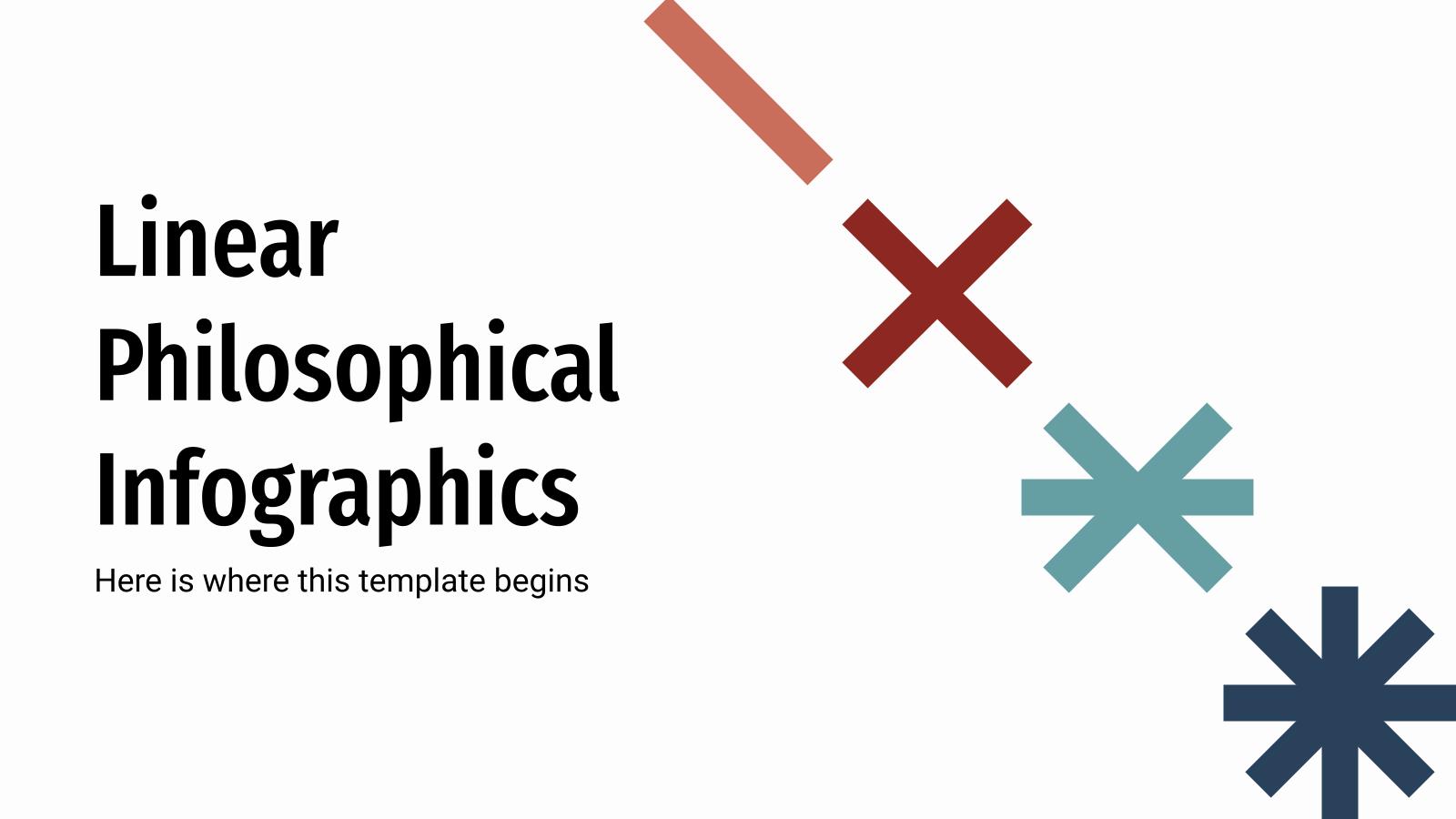 Plantilla de presentación Infografías filosóficas lineales