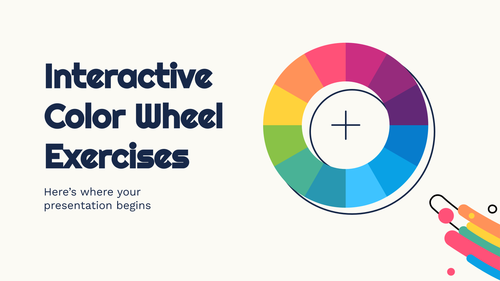 Interactive Color Wheel Exercises presentation template