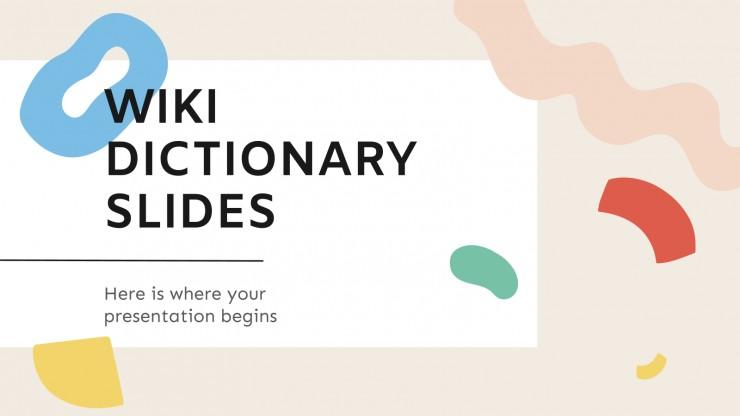 Modelo de apresentação Slides do dicionário wiki