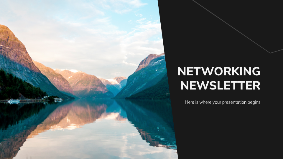 Modelo de apresentação Newsletter de networking
