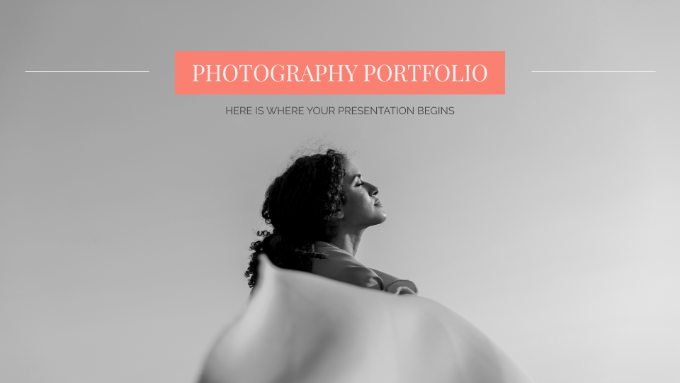 Photography Portfolio - Free Presentation Template for Google Slides