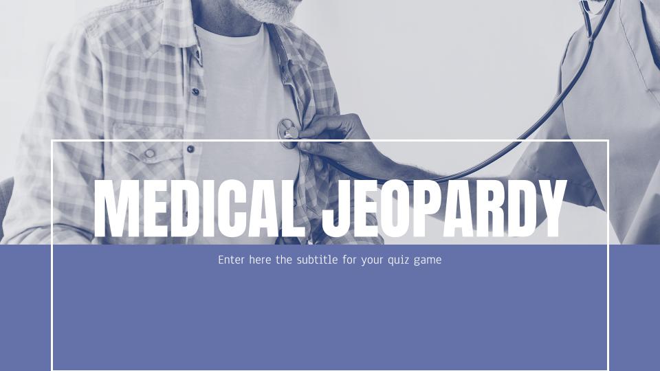 Medizinisches Jeopardy Präsentationsvorlage