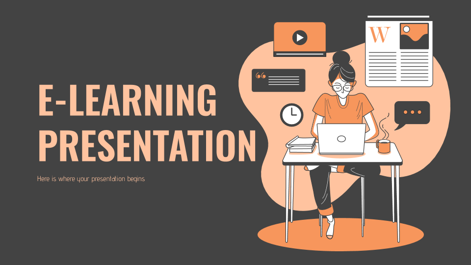 E-Learning presentation template