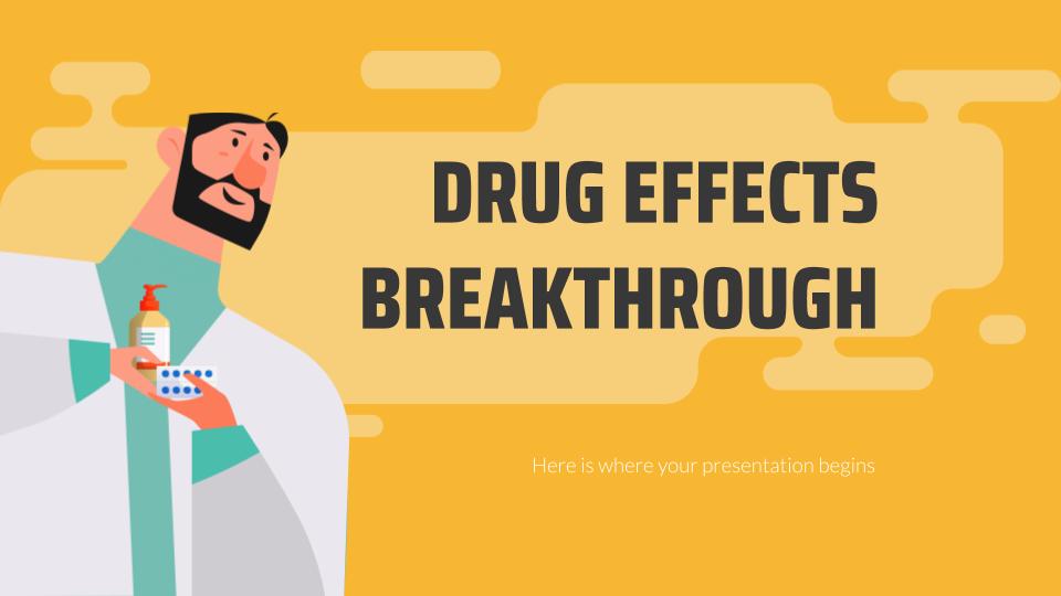 Modelo de apresentação Descoberta sobre efeitos das drogas