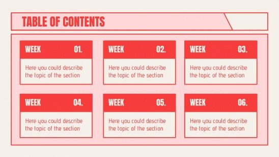 Red Business Planner presentation template