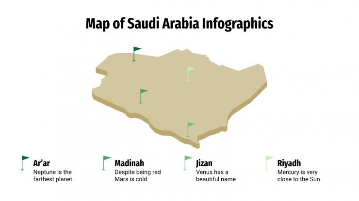 Map of Saudi Arabia Infographics presentation template