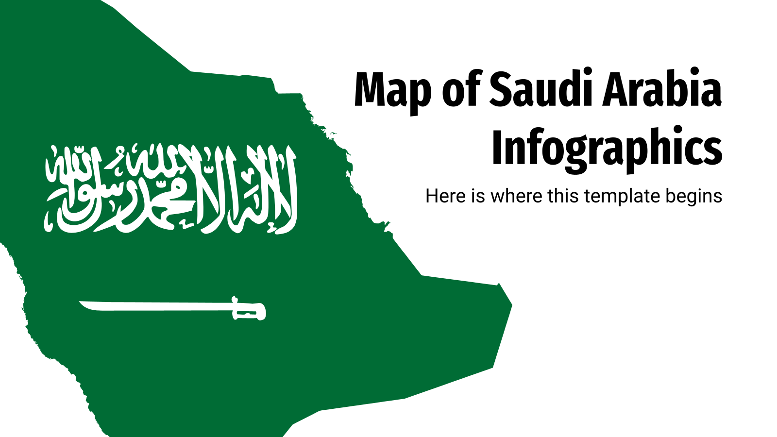 Map of Saudi Arabia Infographics presentation template