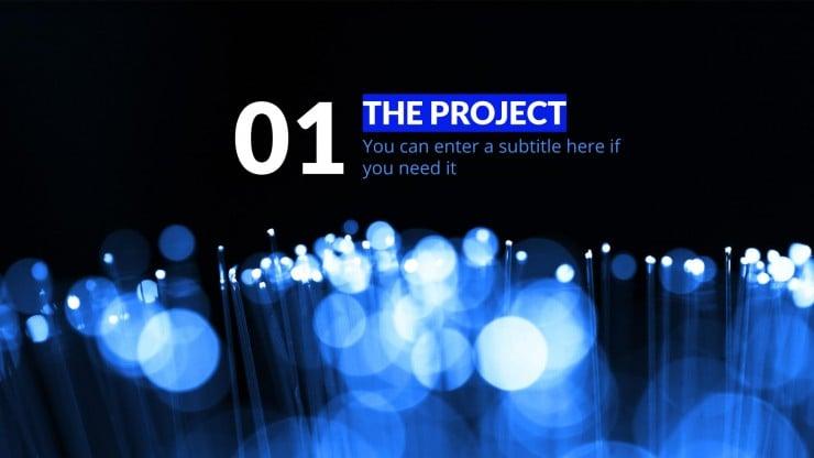 Modelo de apresentação Proposta de projeto Super Elétrica Azul