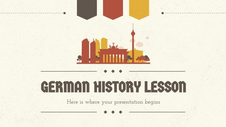 Modelo de apresentação Lição de história alemã